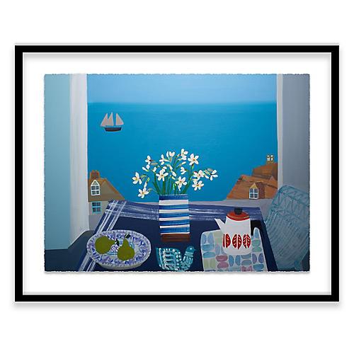 Scilly Whites in Fish Pye Vase, Emma Williams