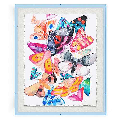 Butterflies IV, Blue Acrylic Box