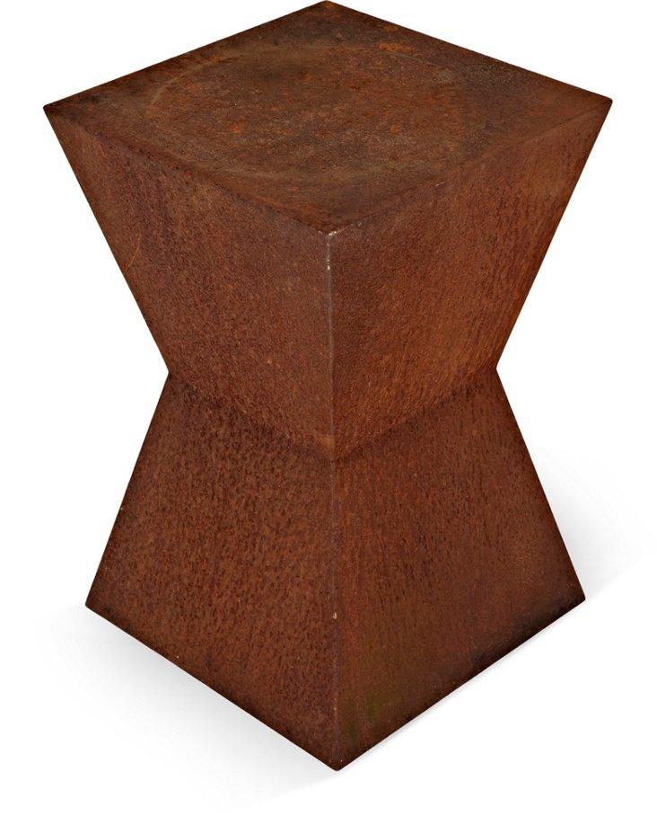 1970s Geometric Iron End Table