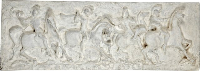 Plaster Soldiers on Horses Panel