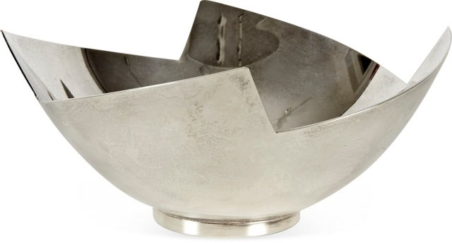 1980s Swid Powell Silverplate Bowl