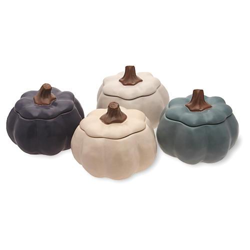 """Asst. of 4 4.5"""" Pumpkin Bowls"""