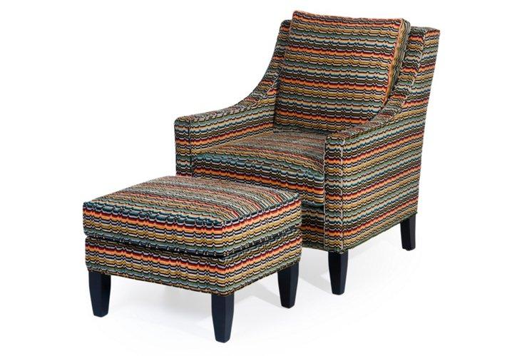 Lawson Chair & Ottoman