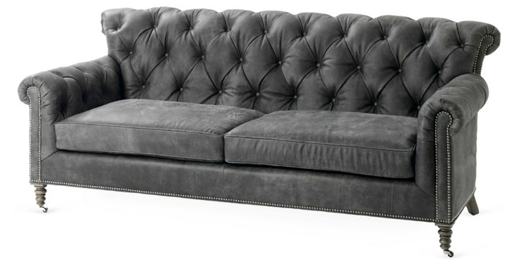 "Maxwell 84"" Leather Sofa"