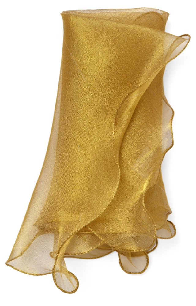 S/4 Wave Tissue Napkins, Gold
