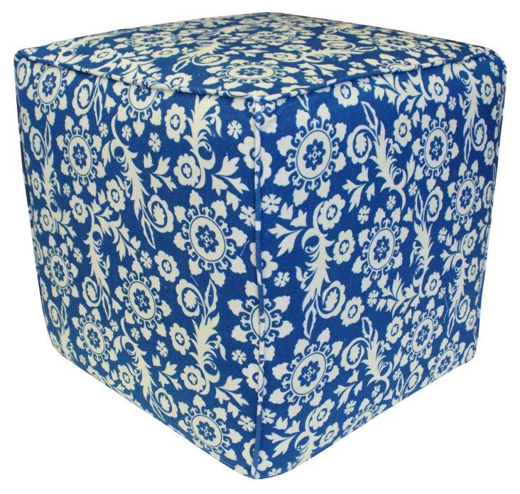 Roopa Pouf, Blue/White