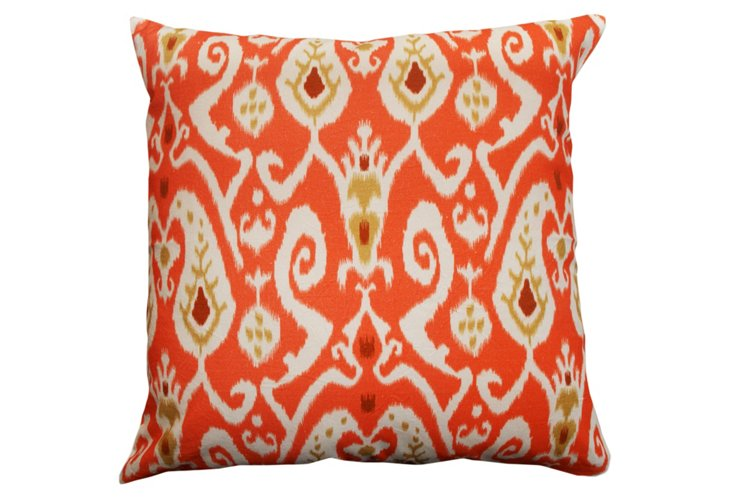 All Over Ikat 24x24 Pillow, Orange