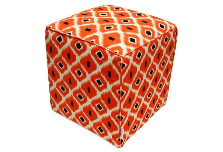 Dane Pouf, Orange/Multi