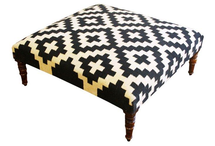 Woolen Kilim Ottoman
