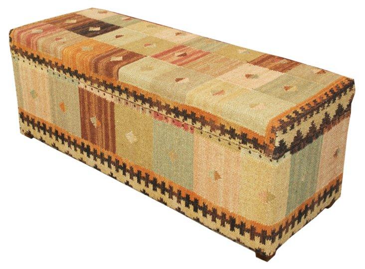 Kilim Upholstered Storage Box, Multi