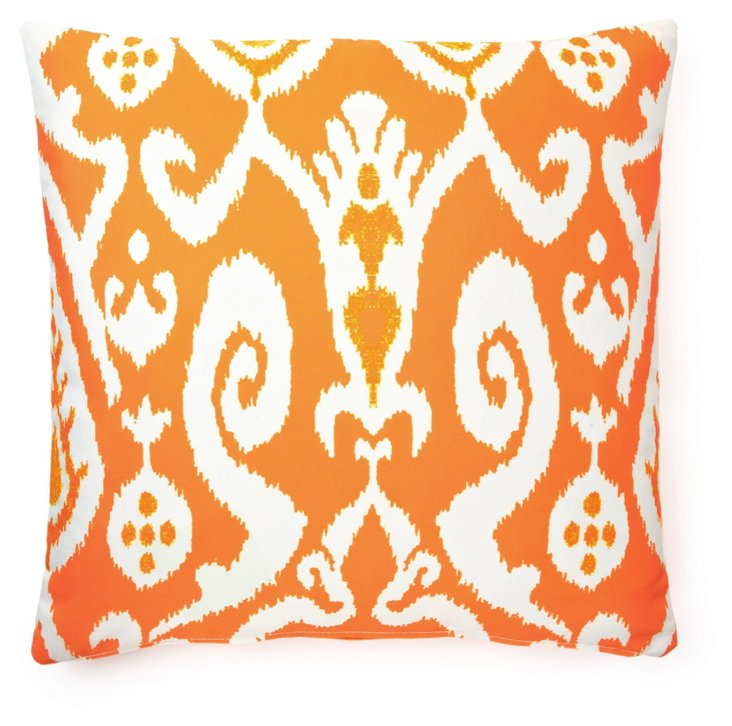 Ikat 20x20 Outdoor Pillow, Orange