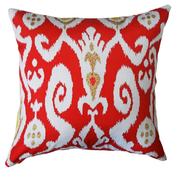 Ikat 20x20 Outdoor Pillow, Red