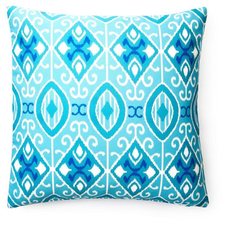 Eva 20x20 Outdoor Pillow, Aqua