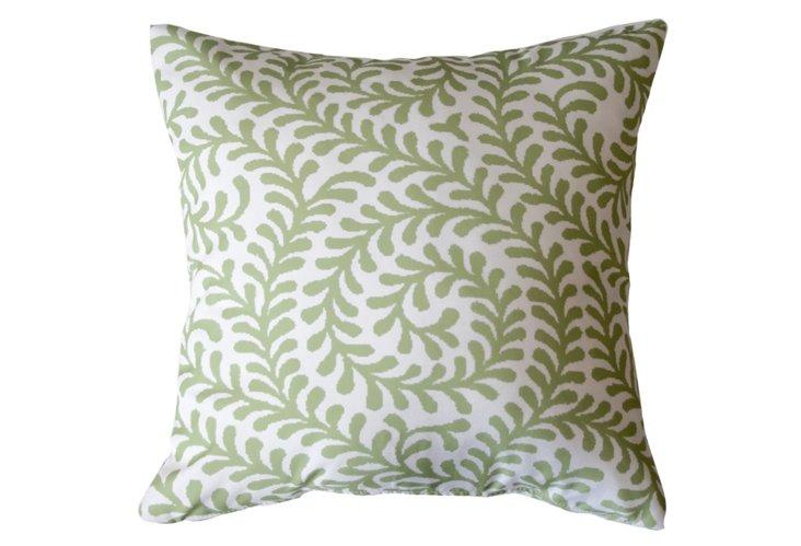 Swirl 20x20 Outdoor Pillow, Green