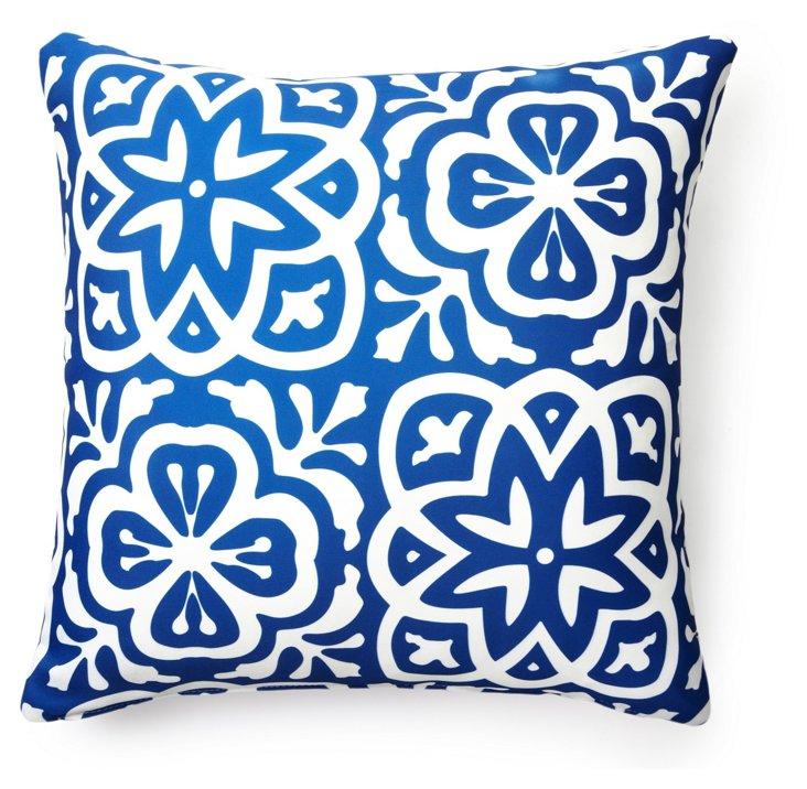 Medallion 20x20 Outdoor Pillow, Blue