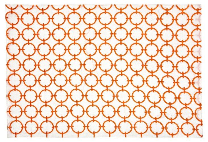 Geo Circles Place Mat, Orange