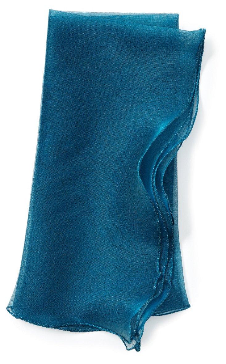 S/4 Wave Tissue Napkins, Aqua