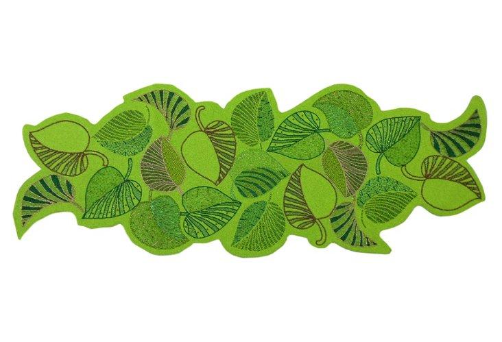 Foliage Beaded Runner, Green