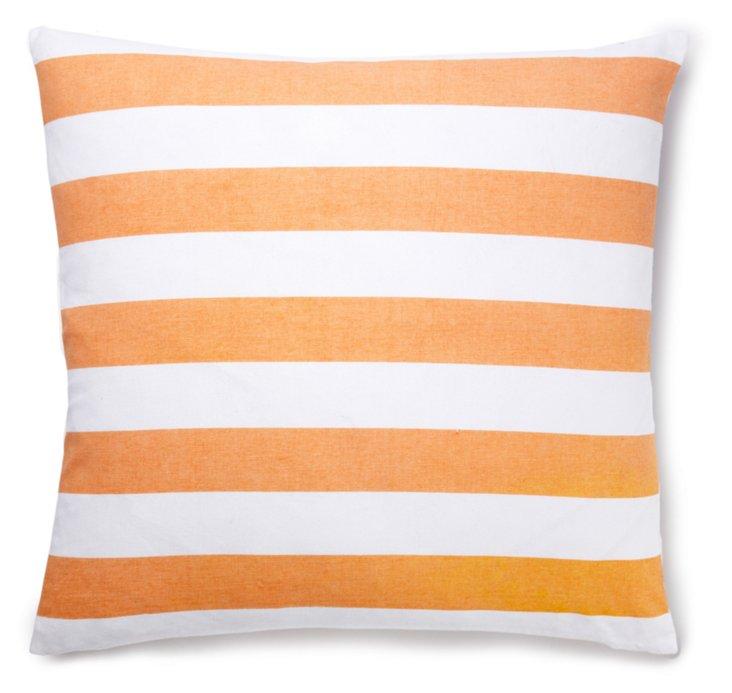 Stripes 20x20 Pillow, Coral