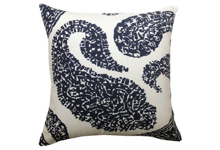 Paisley 20x20 Pillow, Navy