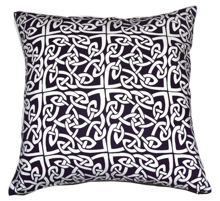 Medallion 20x20 Pillow, Dark Purple