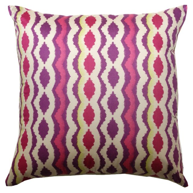 Vibrant 20x20 Cotton Pillow, Multi