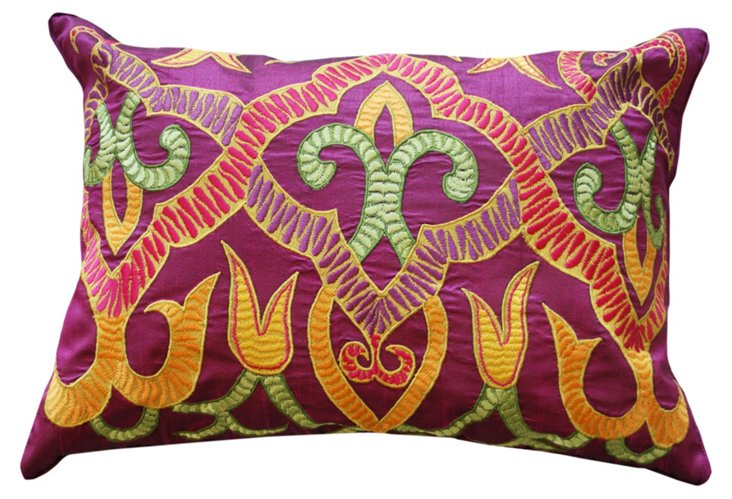 Henna 14x20 Pillow, Purple