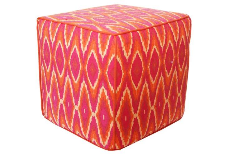 Fiji Pouf, Orange/Magenta