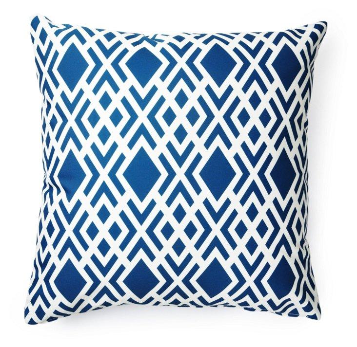 Geometric 20x20 Outdoor Pillow, Blue