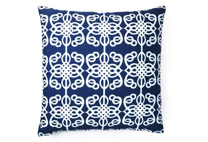 Bold 20x20 Outdoor Pillow, Blue