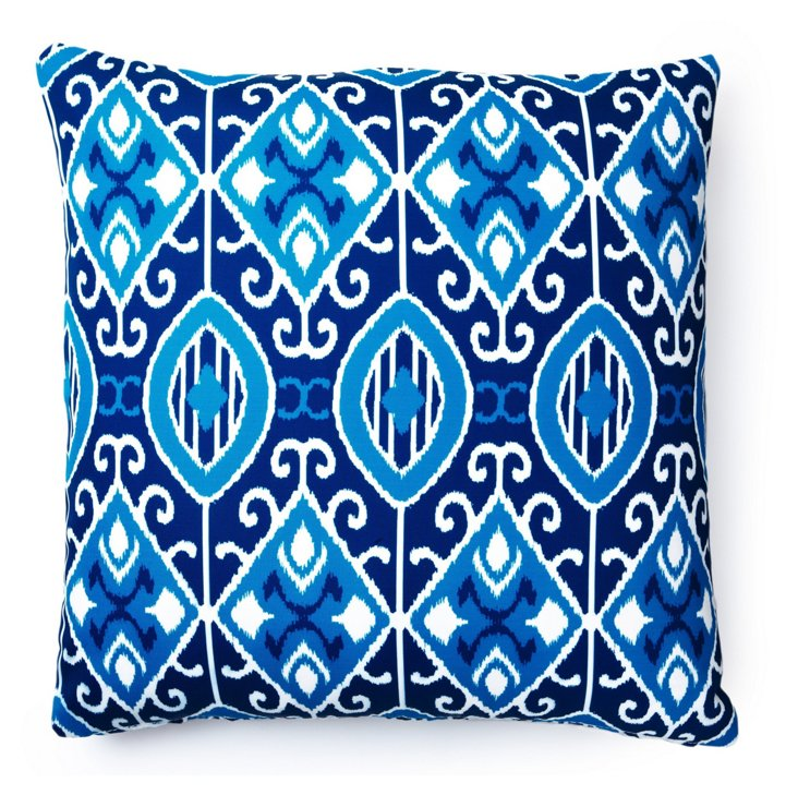 Eva 20x20 Outdoor Pillow, Blue