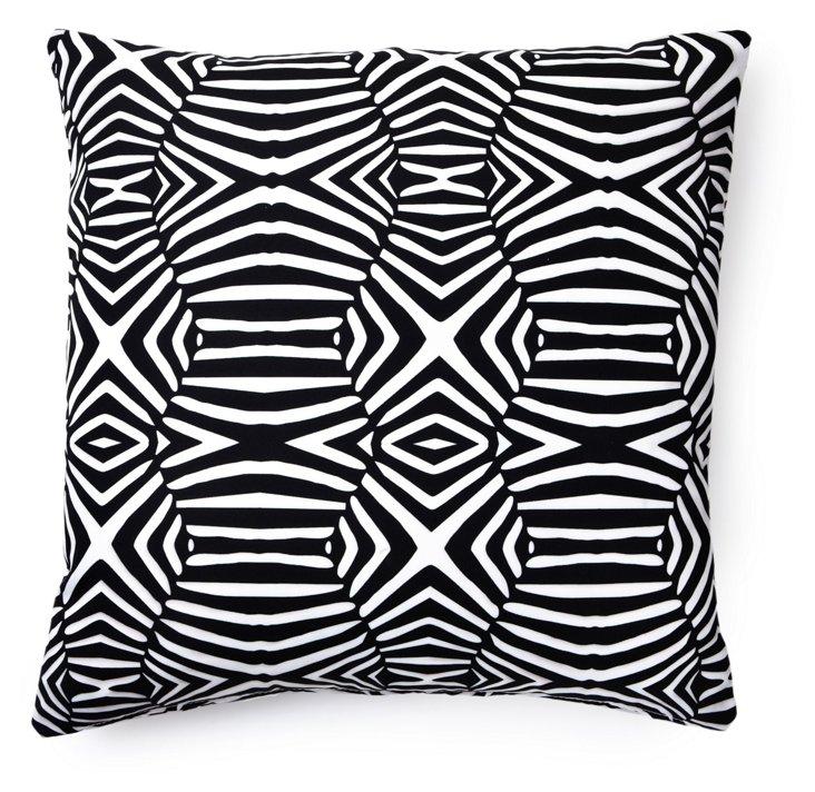 Animal 20x20 Outdoor Pillow, Black