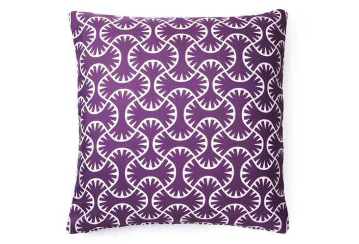 Maze 20x20 Outdoor Pillow, Purple