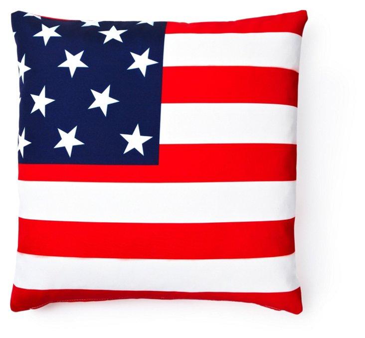 Flag 20x20 Outdoor Pillow, Multi