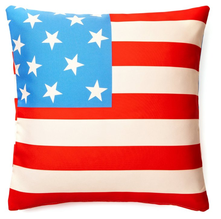 Flag 20x20 Outdoor Pillow, Soft Red
