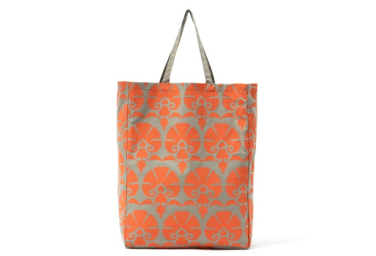 Mandwa Tote, Orange/Gray