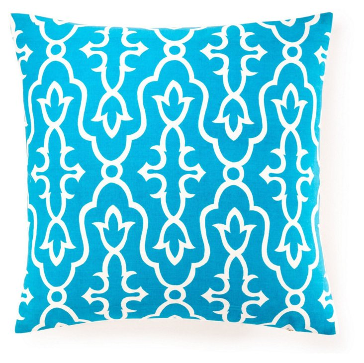 Maira 20x20 Cotton Pillow, Blue