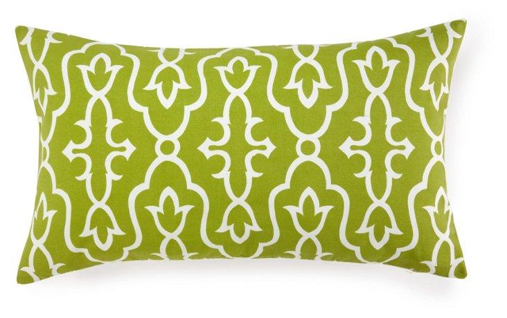 Maira 14x24 Cotton Pillow, Green
