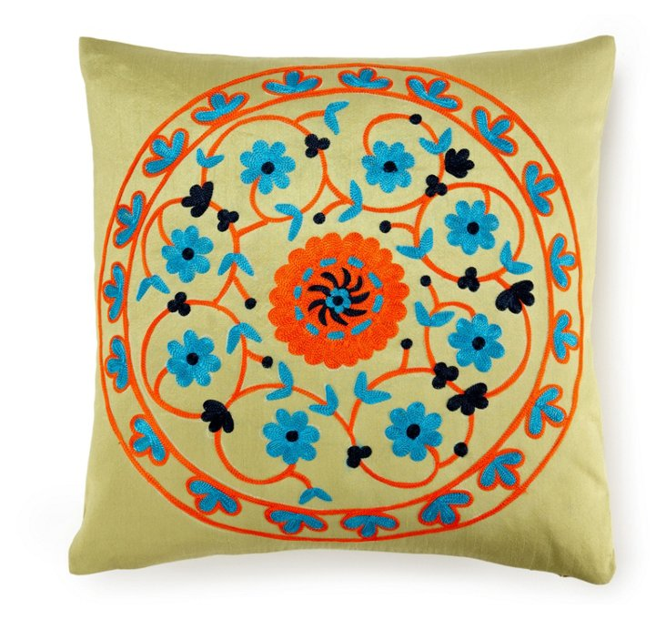 Suzani 20x20 Cotton Pillow, Multi