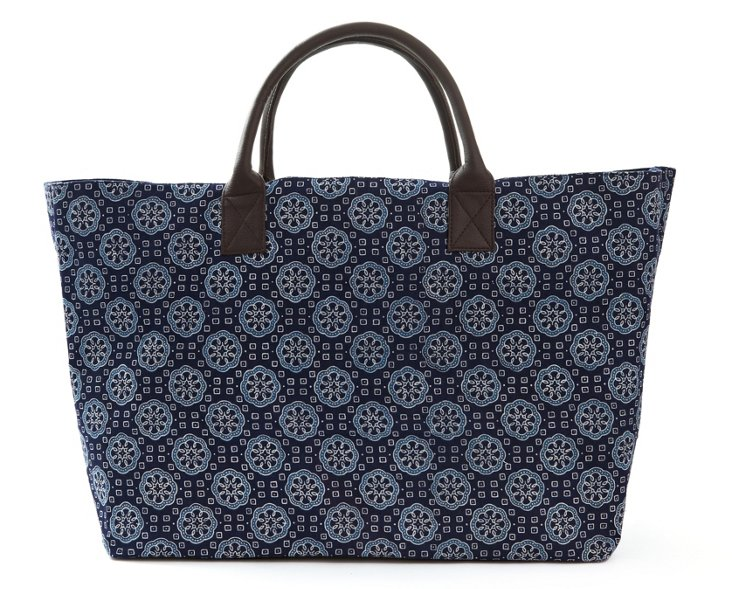 Structured Market Tote, Ocean Payal