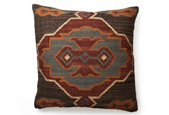 Fula 30x30 Kilim Floor Pillow, Multi