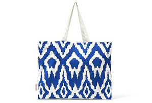 Ikat Tote, Royal Blue