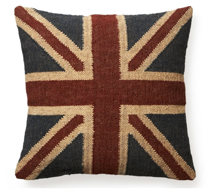 Union 24x24 Wool-Blend Pillow, Red