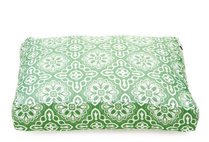 Tiles Dog Bed, Green