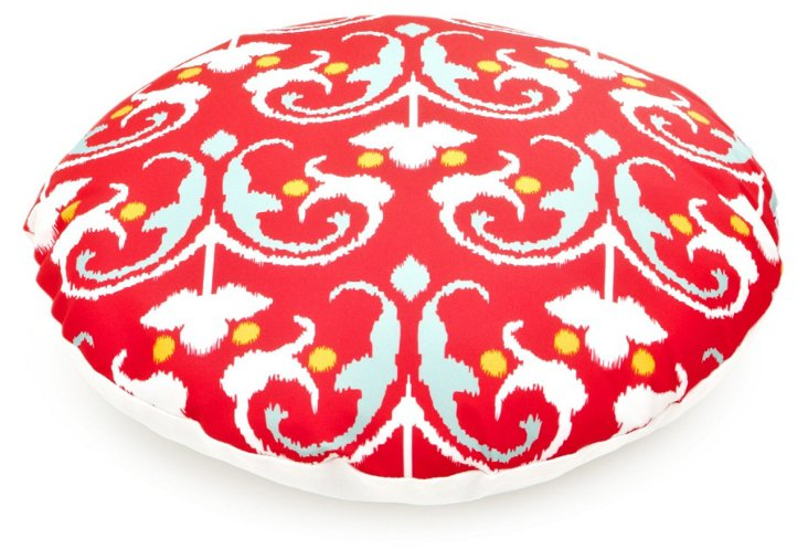 Round Leela Dog Bed, Red