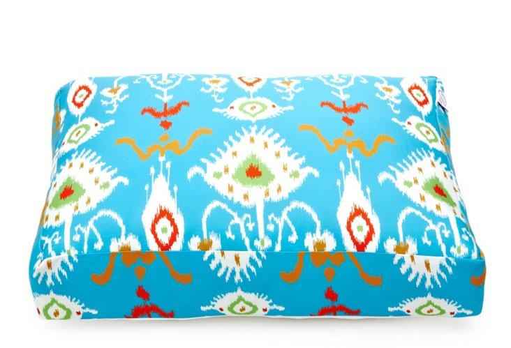Tribal Ikat Dog Bed, Blue