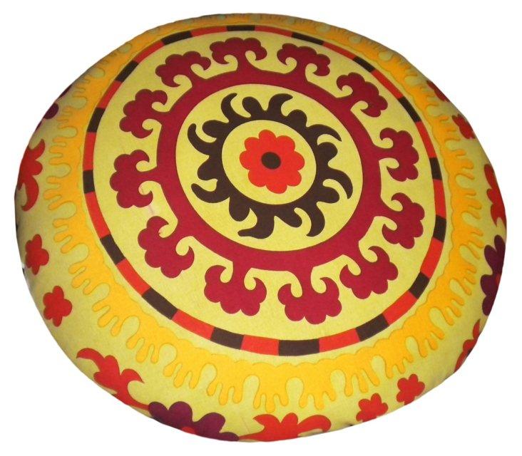 Round Suzani Dog Bed
