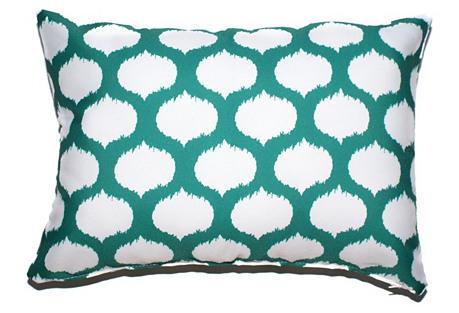 Ikat Circles 14x20 Pillow, Teal