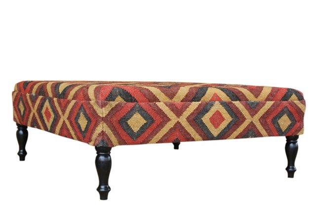 Holden Kilim Upholstered Ottoman