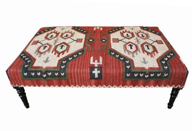 Kieran Kilim Upholstered Ottoman